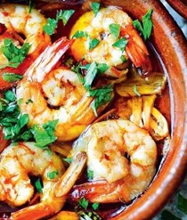 Prawns with garlic (Gambas al ajillo)