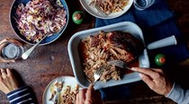 Pulled pork with fennel salad