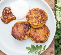 Pumpkin and chickpea cakes