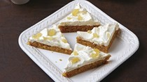 Pumpkin bars with brown butter frosting