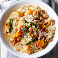 Pumpkin, sage and amaretti risotto