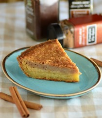 Pumpkin spice chess pie