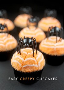 Quick and easy creepy cupcakes