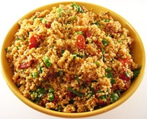 Quinoa salad with oven-dried tomatoes