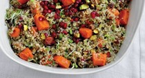 Quinoa salad with pistachios and pomegranate