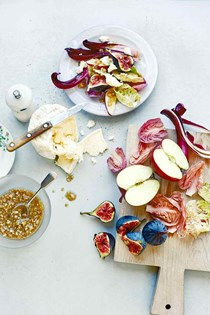Radicchio, fig, and apple salad