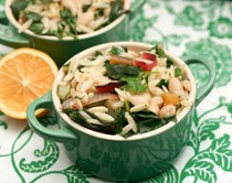 Rainbow chard, Meyer lemon and dill orzo