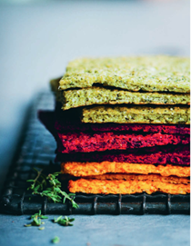Rainbow flatbreads