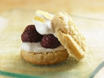 Raspberry, ginger, and honey shortcakes