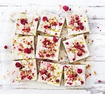 Raw lime and coconut slice