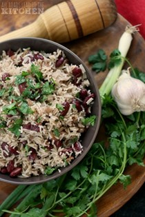 Red beans and coconut rice
