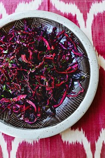 Red cabbage, beetroot and date salad