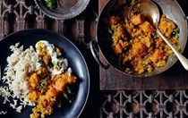Red lentil and pumpkin dal