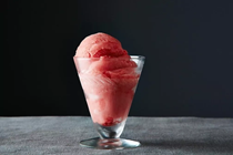 Rhubarb-strawberry-ginger sorbet