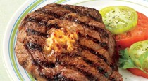 Rib-eye steaks with chipotle butter