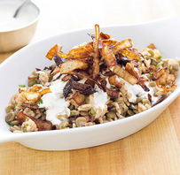 Rice and lentils with crispy onions (Mujaddara)