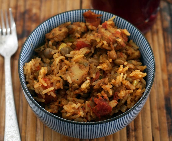how to make pilau rice in rice cooker