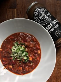 Rich bean & hominy chili