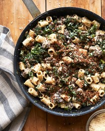 Rigatoni with broccolini and sausage
