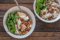 Roast chicken, walnut & feta bowls