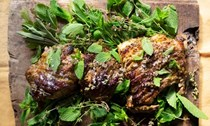 Roast lamb with summer herbs and lemon