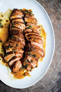 Roast pork tenderloin with paprika