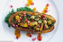 Roasted & stuffed delicata squash