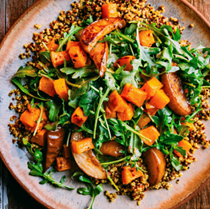 Roasted butternut squash & pear salad with quinoa