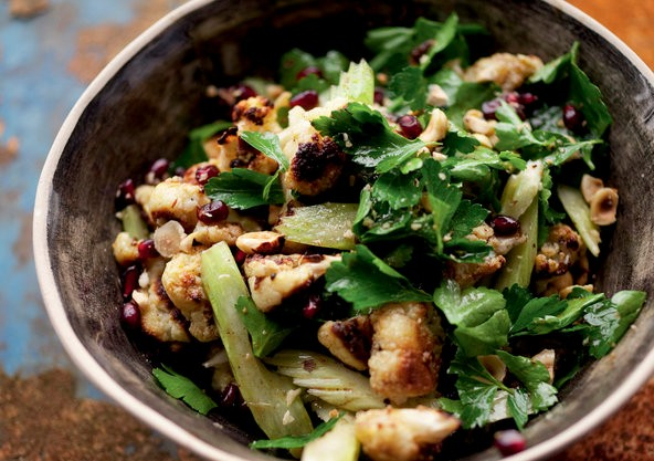 4dbed820c249 Roasted cauliflower and hazelnut salad