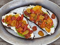 Roasted cherry tomatoes with ricotta