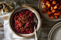 Roasted cranberry sauce with orange