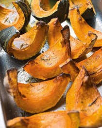 Roasted pumpkin with Parmesan