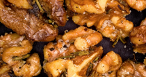 Roasted rosemary walnuts