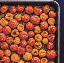 Roasted sheet pan cherry tomatoes