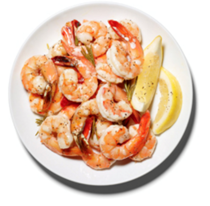 Roasted shrimp with rosemary and lemon (page 154)