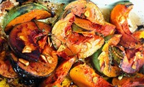 Roasted squash with garlic and thyme