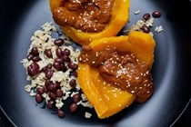 Roasted squash with pumpkin seed mole