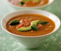 Roasted summer vegetable soup