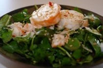 Rocklobster and herb salad with Asian dressing