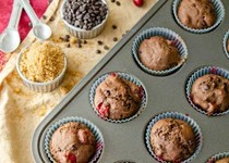 Ruby chocolate muffins