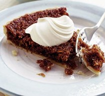 Rum and coconut treacle tart