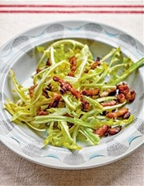 Salad with lardons