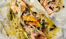 Salmon and fennel en papillote