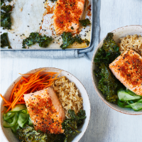 Salmon and sesame rice bowl