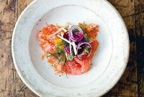 Salmon, fennel, and apple salad