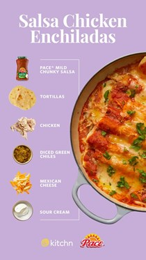 Salsa chicken enchiladas