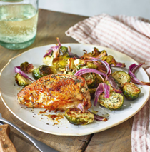 Salt & vinegar chicken & Brussels sprouts