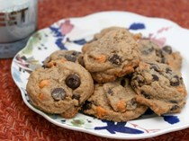 Salted butterscotch chocolate chip cookies