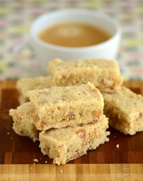 Salted toffee shortbread
