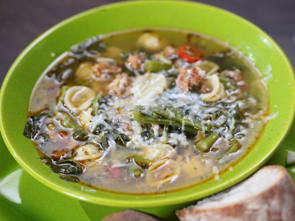 Sausage & broccoli rabe stoup